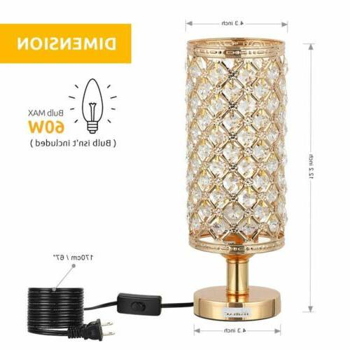 Modern Nightstand Lamp with Lampshade Metal Base Stylish Bedside Lamp