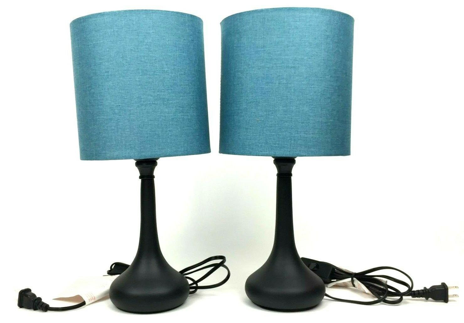 Haitral Table Desk Lamp Pack w/Fabric Lamp Shade Base