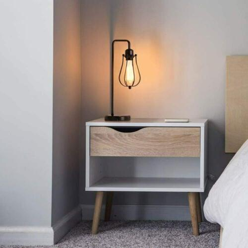 Modern Table Gooseneck Nightstand Lamp Dorm