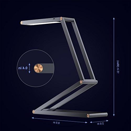 SLYPNOS Lamp with USB Rechargeable Dimmable Desk Lamp, 2 Brightness Levels, Alloy Folding Lamp Wall Mount Studying