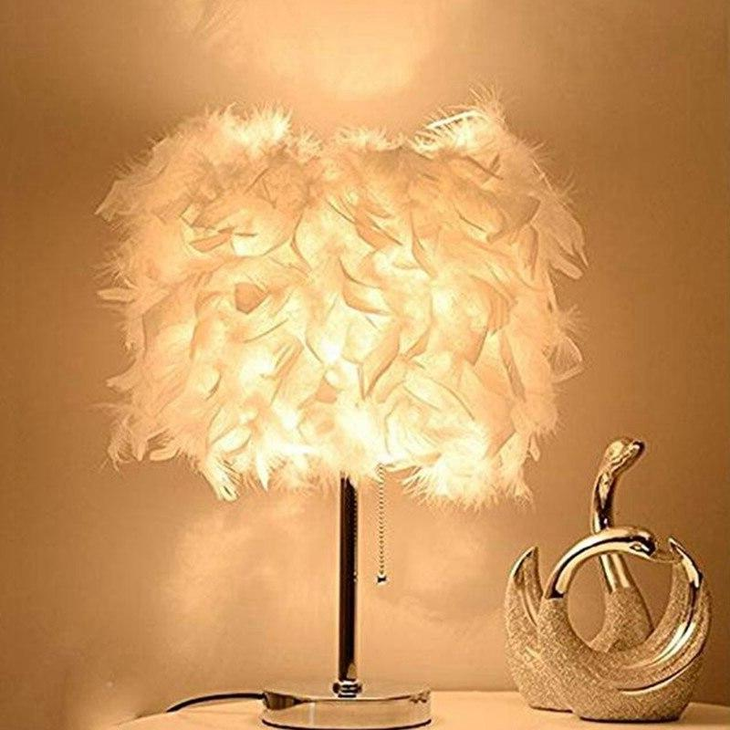 Hot Sale Feather Shade Metal Table <font><b>Lamp</b></font>