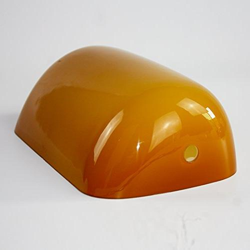 Newrays Glass Bankers Lamp Shade Cover, Replacement Glass Shade For Bankers Lamp