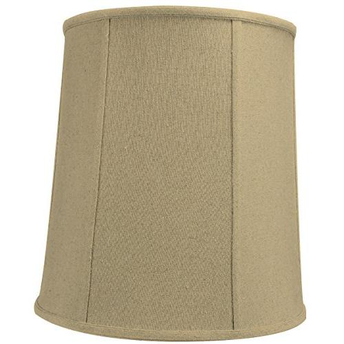 sand linen drum lampshade