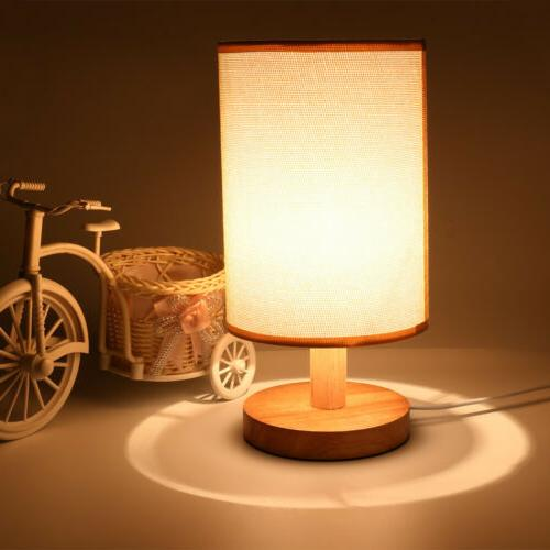 simple table lamp bedside desk lamp fabric