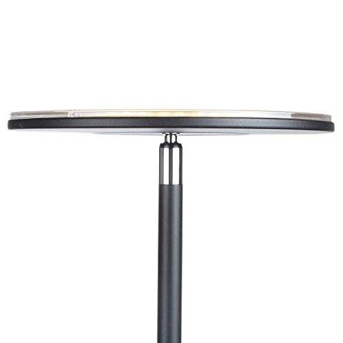 Brightech Flux - Modern LED Floor Lamp for Living & Warm to Cool - Tall Pole, Office Light - Bright, - Black