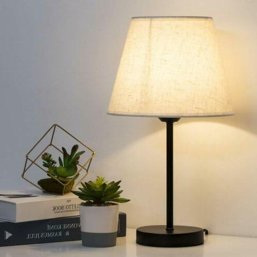 Small Nightstand Lamps Set of 2 Shade for