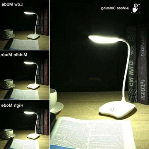 Smart Timing Touch Cordless LED Light Table Lamp-White
