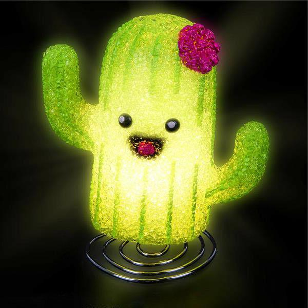 smiley cactus lamp kids children room table