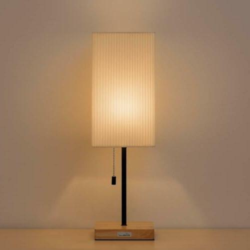 HAITRAL Bedside Square Desk Lamp Japanese-Style Bedroom