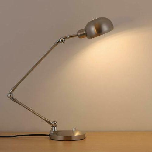 Swing Arm Architect Table Lamp Lamp for Office Silver