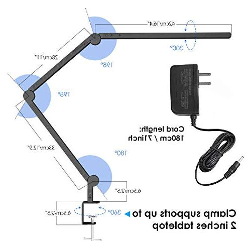 Desk Lamp with 9W Eye-Care Dimmable Light, Timer, Modes, JolyJoy Table Lamp Office