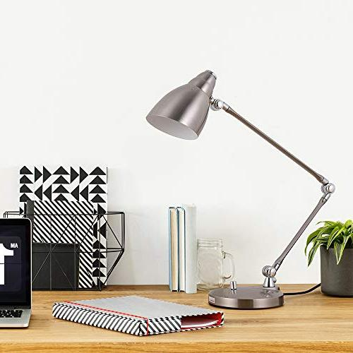 HAITRAL Desk Lamp - Modern Task with Multi-Joint and Adjustable Arm, Reading for