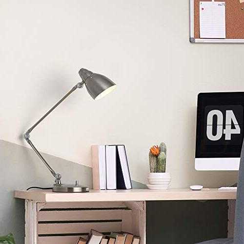 HAITRAL Arm Desk Modern Architect Lamp with and Adjustable Reading for Office, Study,