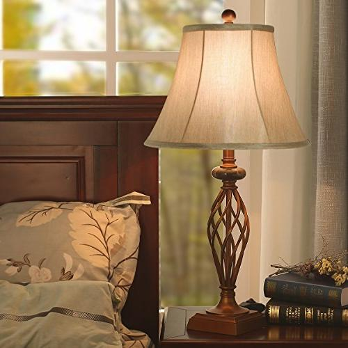 Table Set of 2 for Living 27.5 High Large Bedside Table Lamps