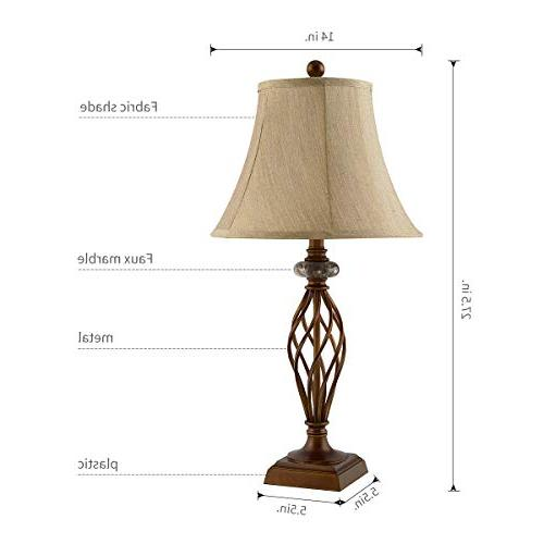 Table Lamp Set of 2 Bedroom Living Room, 27.5 High Bronze Large Reading,Dining,Kitchen,Nightstand Traditional Table