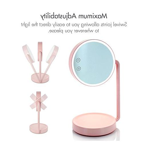 Tenergy Vanity Mirror Lighted Makeup Cosmetic Tray Battery Lamp