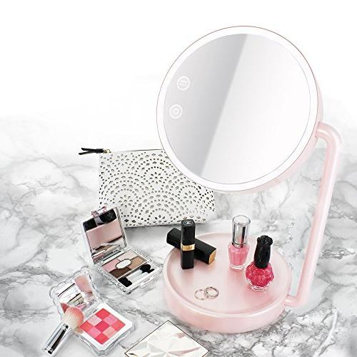 Tenergy Cordless Mirror Lighted Makeup Cosmetic Tray Battery Powered Lamp