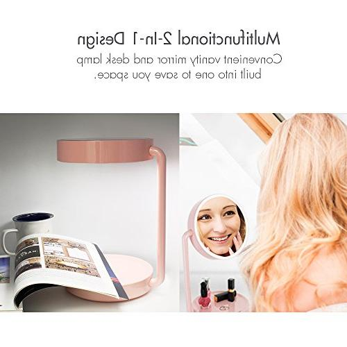 Tenergy Cordless LED Mirror Lighted Makeup Tray Lamp