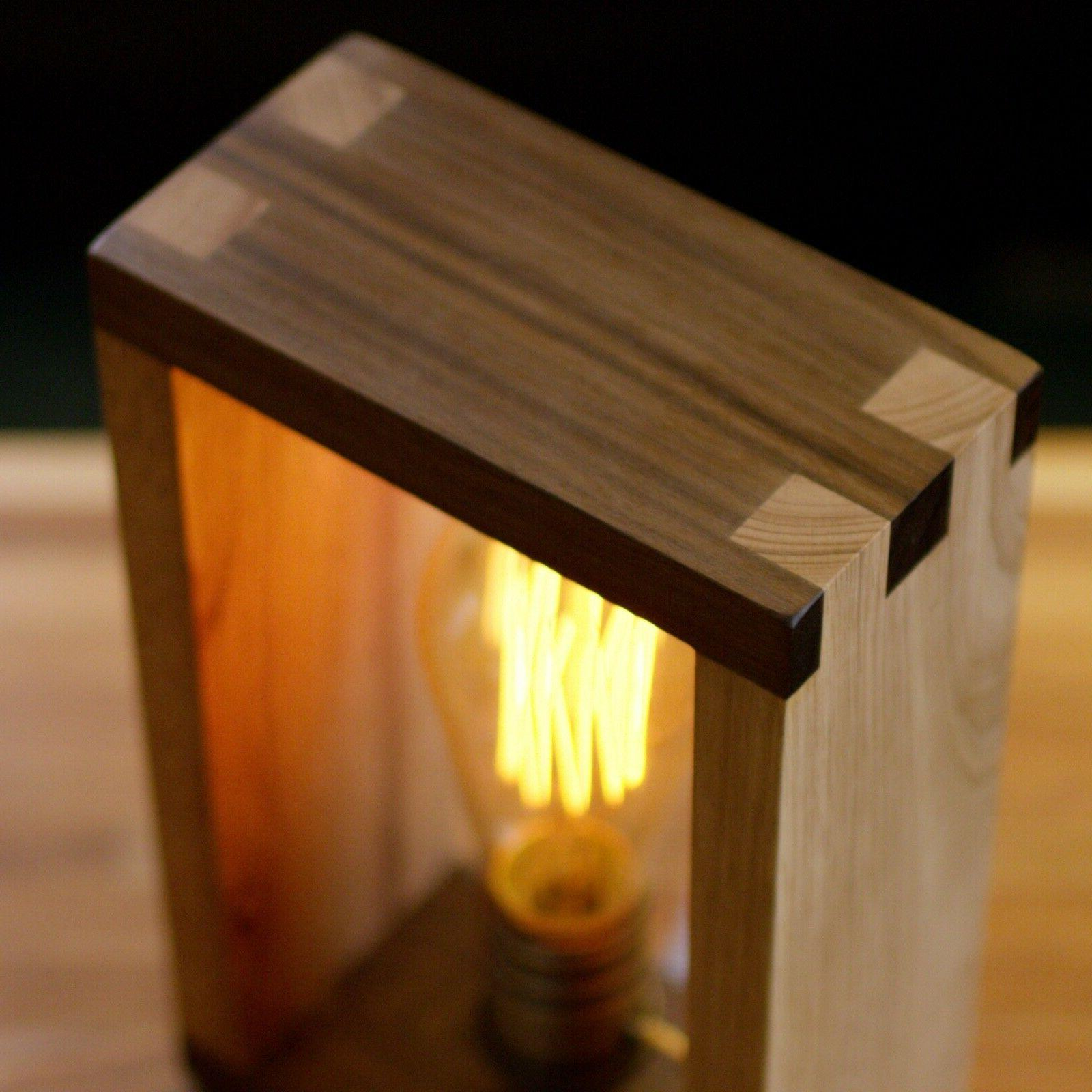 The Alto Lamp: Solid Wood Shadow Accent Desk Lamp Freeform Made