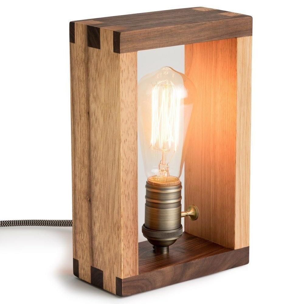 The Alto Lamp: Wood Dimmable Shadow Accent Desk by Freeform Made