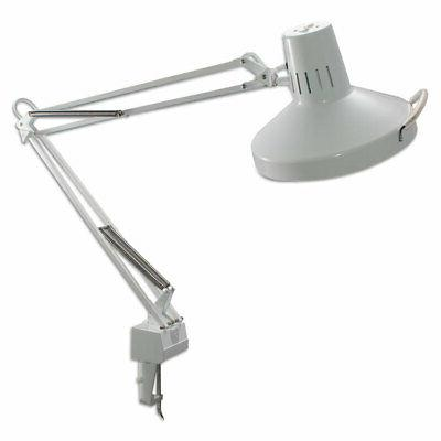 ** Three-Way Incandescent/Fluorescent Clamp-On Lamp, 40 Inch