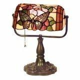 Tiffany Style Banker Butterfly Desk Lamp by Warehouse of Tif