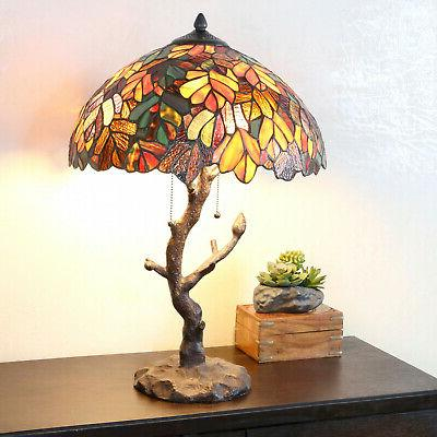 Tiffany Style Table Lamp Tree Table Reading Desk Accent Stai
