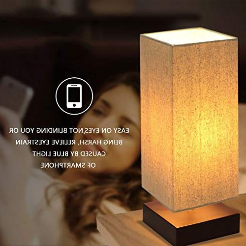 Touch Bedside Way Touch Desk Lamp Modern Nightstand Lamp Fabric Lamp Living Room Bulb