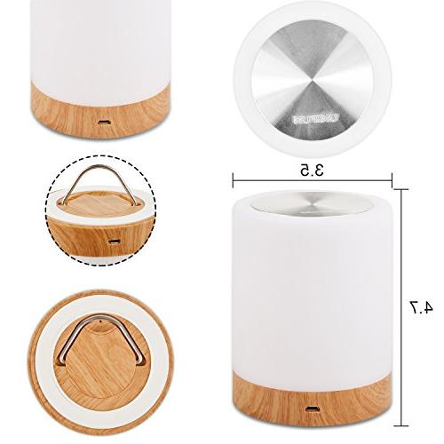 Bedside Lamps for Living Night Light Internal Battery White Changing