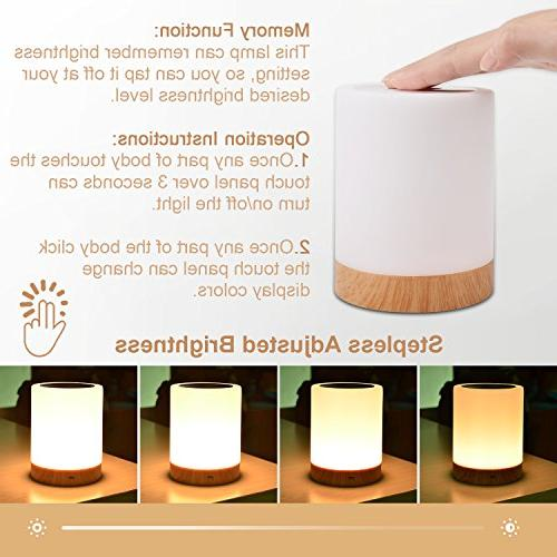 UNIFUN Lamp, Table Bedside for Living Portable Light Battery Dimmable White Light & Changing