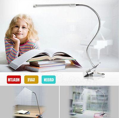 US Flexible USB Clip-on Table Lamp LED Clamp Reading/Study/B