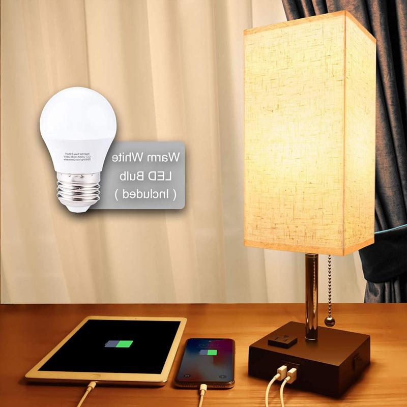 Usb Bedside Table Lamp,Cotanic Minimalist Bedside Desk Lamp