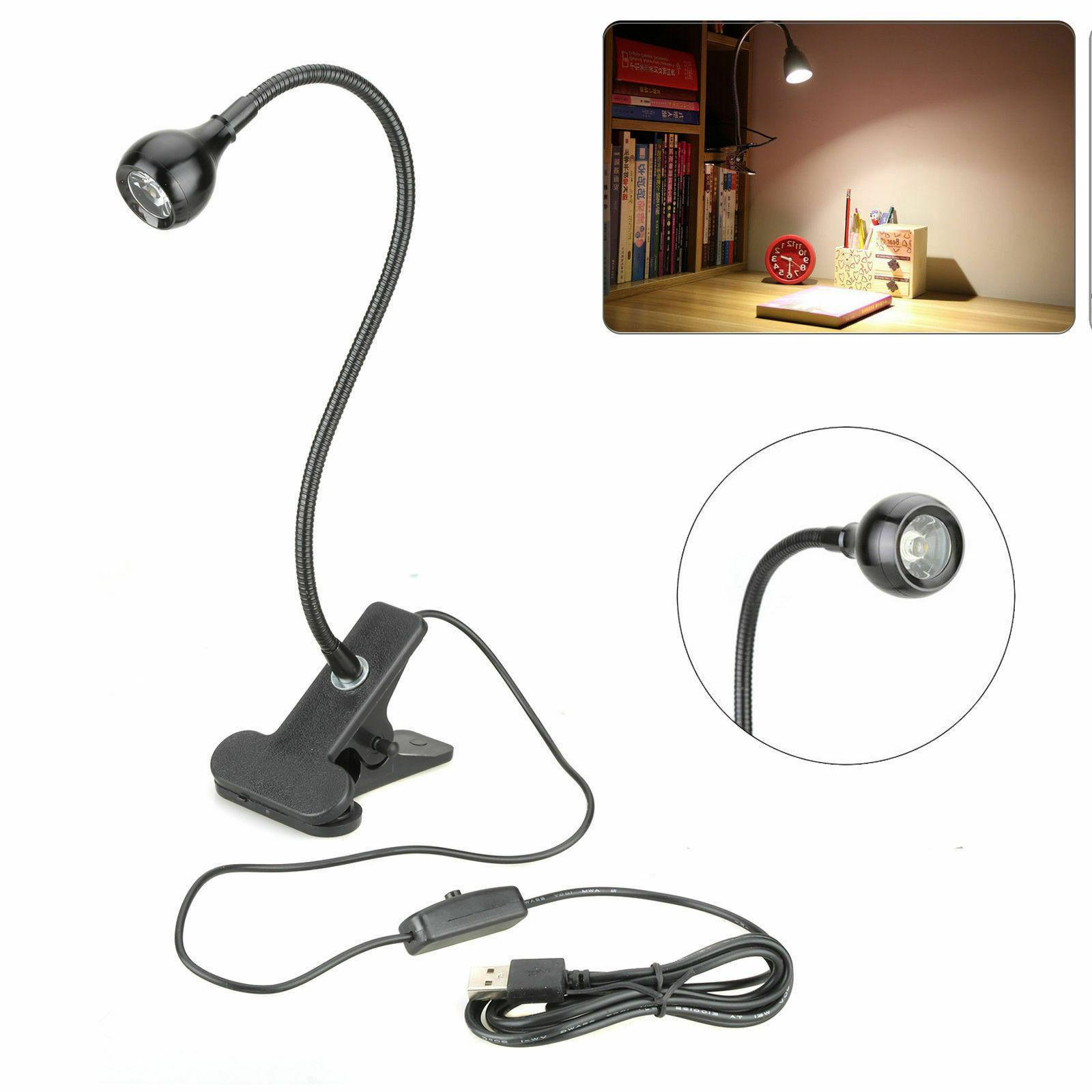 USB Reading Light Clip-on Desk Lamp