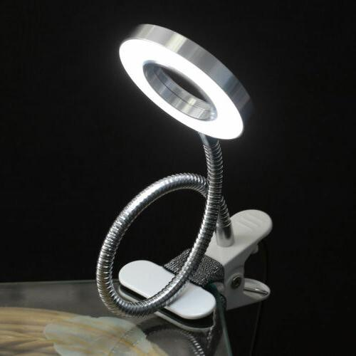 usb led light reading book bed table