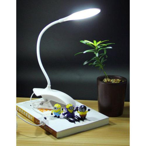 USB Dimmable Clip-On Table Reading White