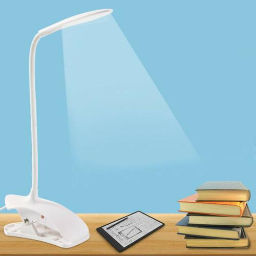 usb rechargeable led dimmable clip on desk