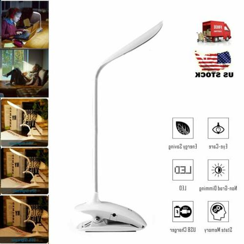 usb flexible gooseneck clip on led desk