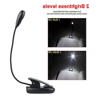 USB Rechargeable LED Light Dimmable Clip-On Reading Lamp