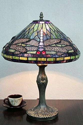 vintage pastoral dragonfly stained glass