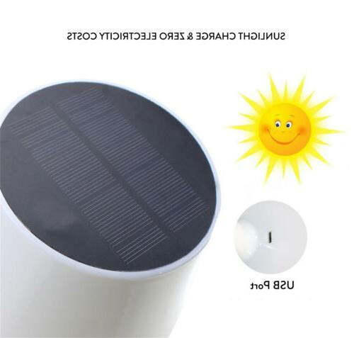 Waterproof Solar USB Rechargeable LED Desk Table Outdoor