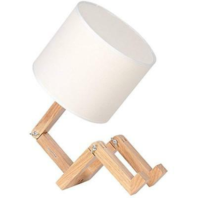 wooden table lamp adjustable creative