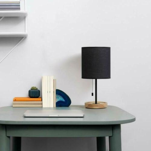 HAITRAL Wooden Table Lamps Black
