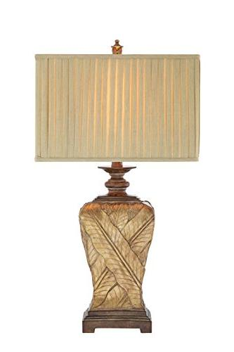wrapped leaf table lamp