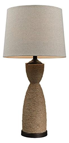 "32"" Wrapped Rope Led Table Lamp in Dark Brown"