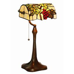 Bieye L10306 10-inch Grapes Tiffany Style Stained Glass Bank