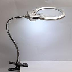 Lamp Magnifier LED Magnifying Light Desk Table Clamp 2.25X 1