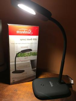 Lamp NEW Sunbeam Blk Desk 8 LED 3 Dimmable Touch Settings No