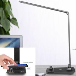 LE LED Desk Lamp, Dimmable Office Lamp with USB Charging Por