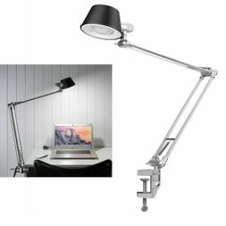 LE Swing Arm Desk Lamp, Architect Clamp-on Desk Light, Dimma