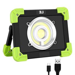 LE Portable LED Work Light, 20W, Rechargeable Outdoor Flood